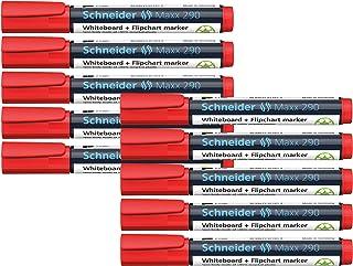 قلم تعليم للسبورة بسن دائري من شنايدر Maxx 290، أحمر