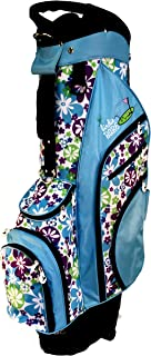 Birdie Babe Turquoise Flowered Ladies Golf Cart Bag for Women