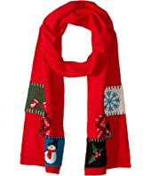 KNS5004 Holiday Patch Scarf
