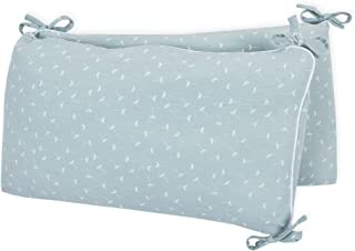 Bettgr/ö/ße 120 x 60 cm f KraftKids Nestchen Musselin blau Baby-Nest mit separatem Au/ßenbezug Bett-Umrandung f/ür Baby-Bett pass