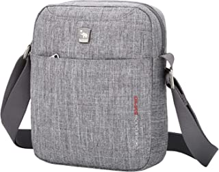 OIWAS Umhängetaschen Herren und Damen Klein Grau Crossbody Bag Tasche Umhängen Mini Schultertasche für Freizeit Urlaub Aus...