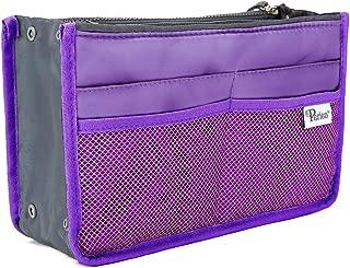 Periea Handbag Organiser - Chelsy - 28 Colours Available - Small, Medium Large (Large, Purple)