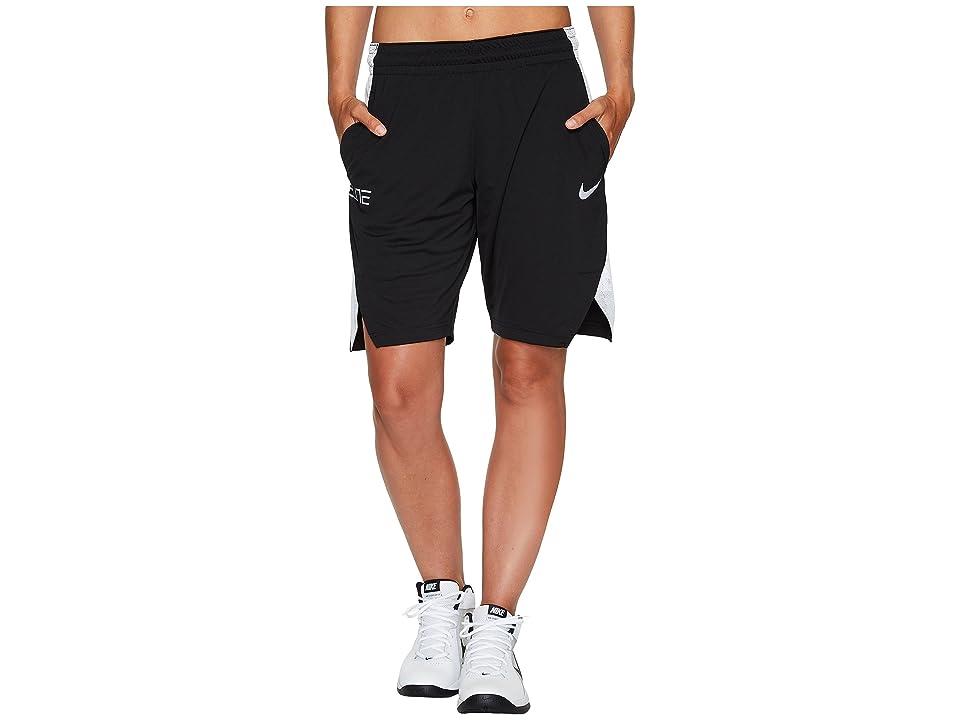 Nike Dry Elite 9 Basketball Short (Black/White/White/White) Women