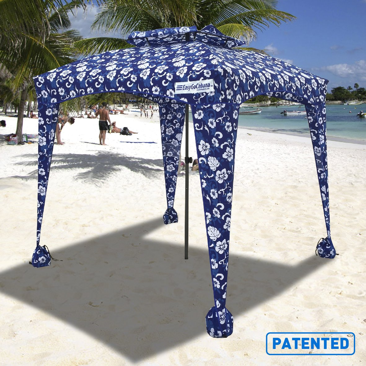 EasyGoProducts Umbrella Sports Cabana Flowers