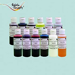 Edible Supply Airbrush Food Color Combo Pack - 4.5 oz