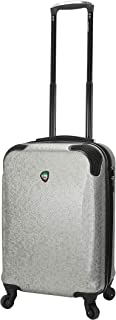 Mia Toro Italy Ofena Hardside Spinner Luggage Carry-on, Silver