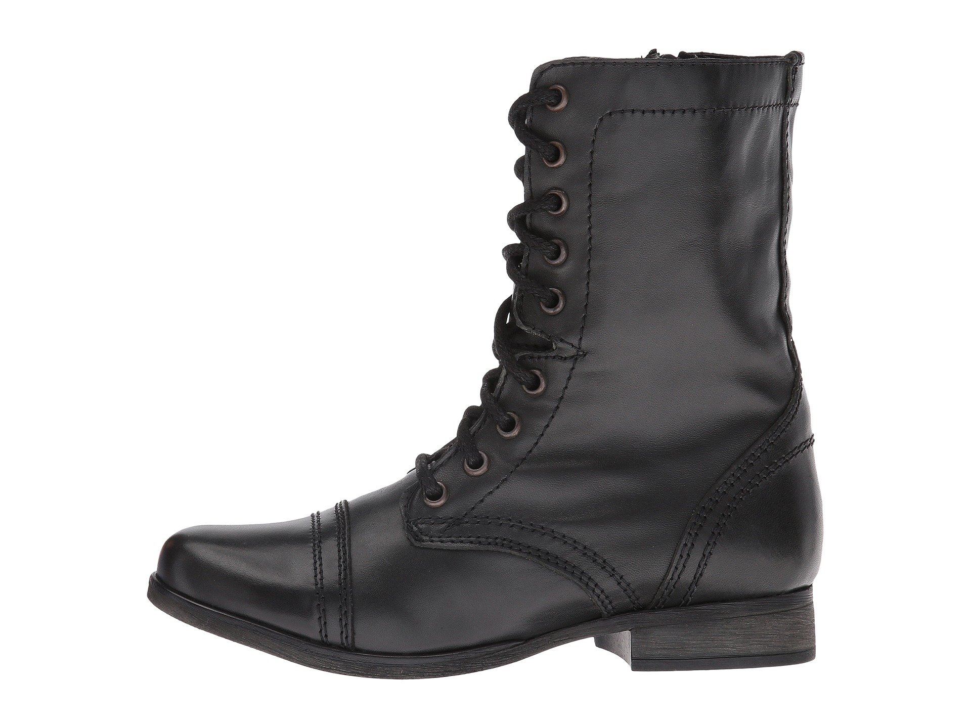 Black Madden Boot Steve Troopa Leather Combat 8IYHSxwfwq
