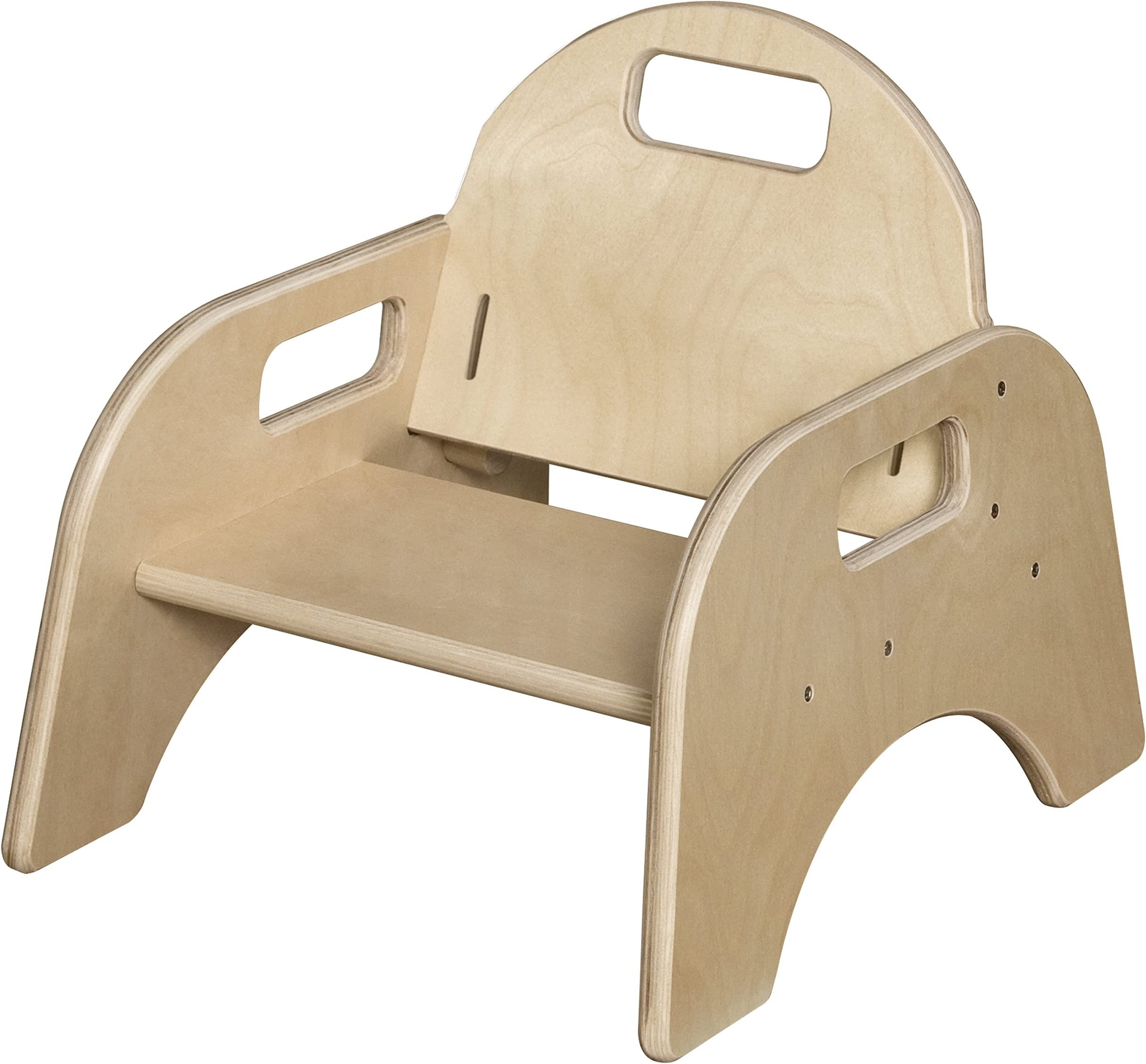 9 High Seat Wood Designs Stackable Woodie Toddler Chair Set of 2