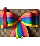 Gucci Kids - GG Supreme Bow Wristlet (Little Kids/Big Kids)