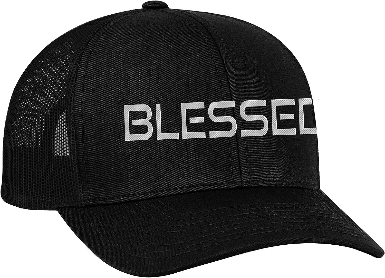 Trenz Shirt Company Men's Christian Blessed Embroidered Mesh Back Trucker Cap