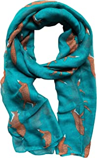 Lovely Fox Print Chiffon Scarves Scarf for Women/Girls