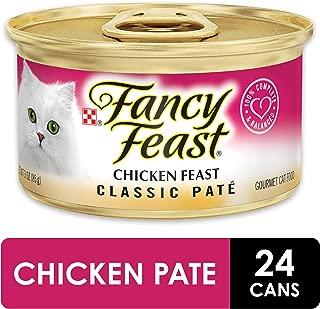 Purina Fancy Feast Grain Free Pate Wet Cat Food, Chicken Feast - (24) 3 oz. Cans