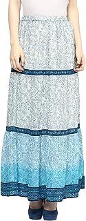 Fusion Beats Women Polyester Indigo Print Skirt