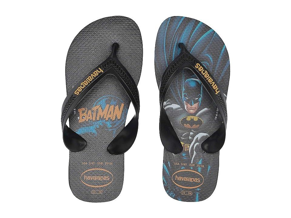 Havaianas Kids Max Heroes Flip Flops (Toddler/Little Kid/Big Kid) (Black/Black) Boys Shoes