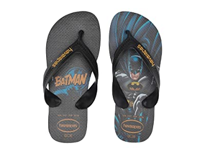 Havaianas Kids Max Heroes Flip Flops (Toddler/Little Kid/Big Kid) (Black/Black) Boys Shoes