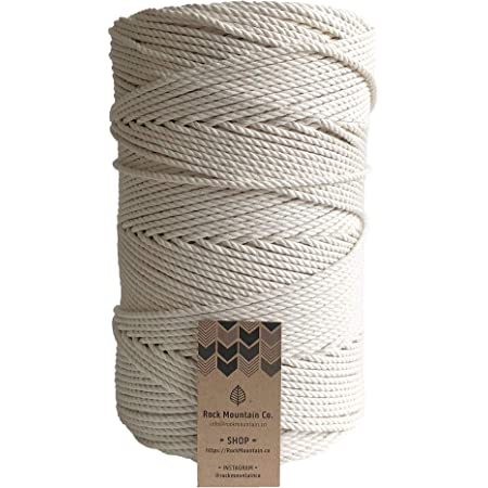 3 mm 3-ply twisted rope 250 meters good quality macrame rope 100/% cotton rope  cord 1 kilo deep black