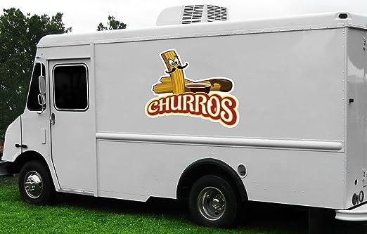 "Amazon.com: Churros 36"" concesión calcomanía cartel carro remolque soporte  etiqueta equipo: Office Products"