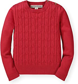 Girls Cable Front Pullover Sweater