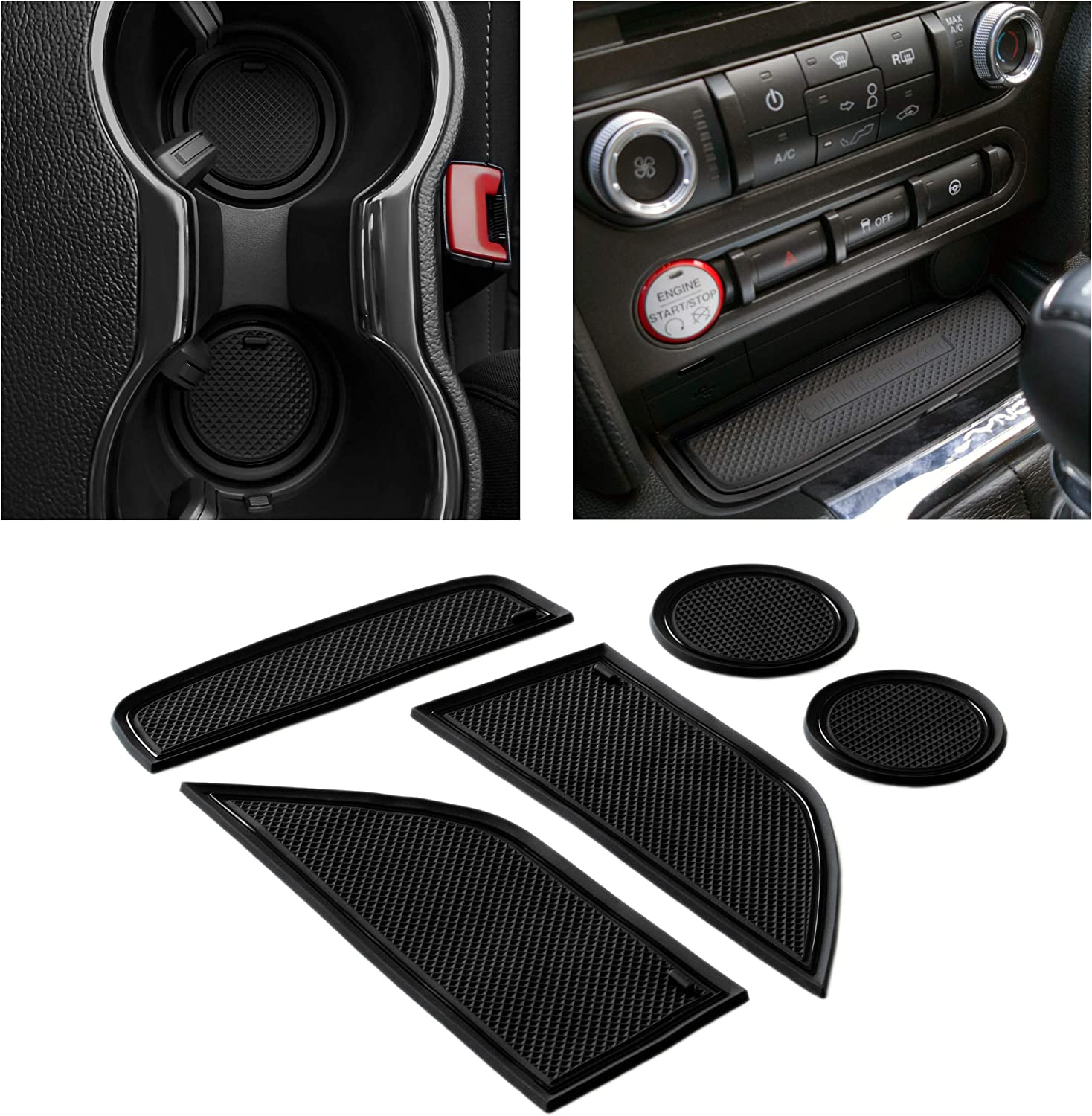 CupHolderHero for Louisville-Jefferson County Mall Ford Mustang Popular brand Premium Accessories 2015-2021 Cus