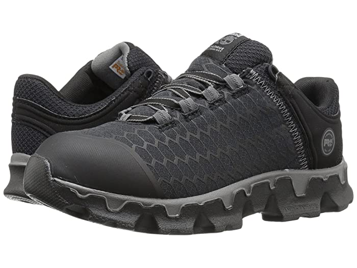 Timberland PRO  Powertrain Sport Soft Toe SD+ (Black Synthetic) Womens Work Lace-up Boots