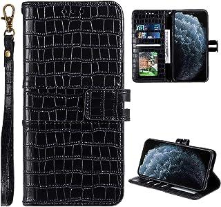 Urhause Compatibel met Galaxy S8 Plus Case Glossy PU Lederen Portemonnee Cover met Kaartsleuven Cover Krokodil Patroon Kic...