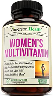 Women's Daily Multivitamin Multimineral Supplement. Enhanced Vitamins and Minerals. Chromium, Magnesium, Biotin, Zinc, Calcium, Green Tea. Antioxidant Properties for Women. Heart and Breast Health.