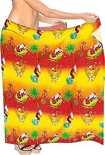 LA LEELA Women Beachwear Wrap Bikini Cover up Swimwear Solid 6 Plus Size