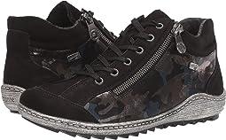 Schwarz/Blau-Camouflage
