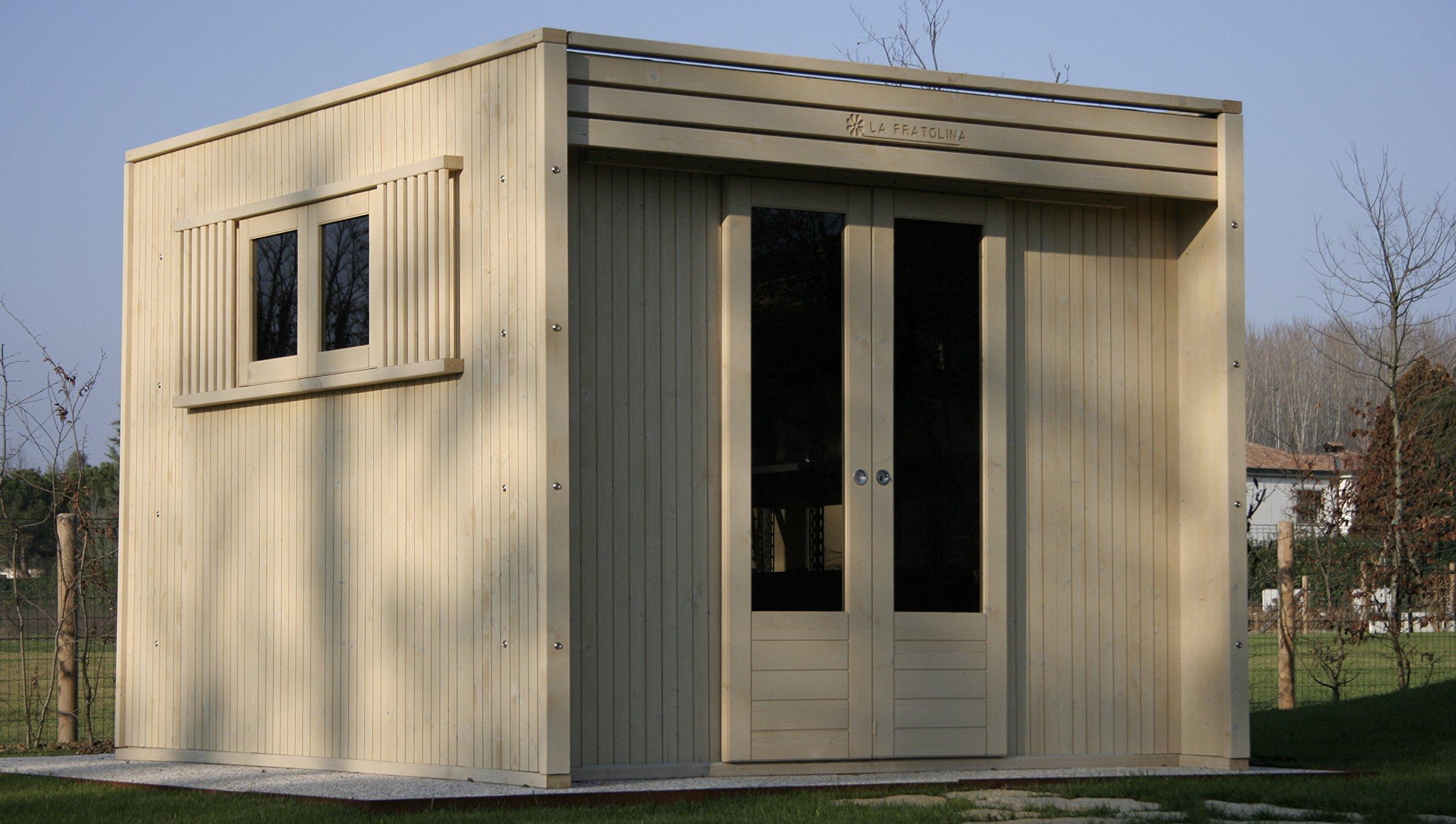 Casa de madera para jardín 3 x 3 LA PRATOLINA de alta calidad modelo CUBO de utilización de los artes de pesca utilizados, legnaia, box moto capanno herramientas alojamiento de los animales:
