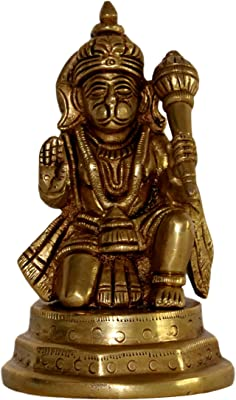 Cool nx Hindu Lord Hanuman Destructer of Evil Remover of Obstacles - Superfine Workmanship - Brass Statue