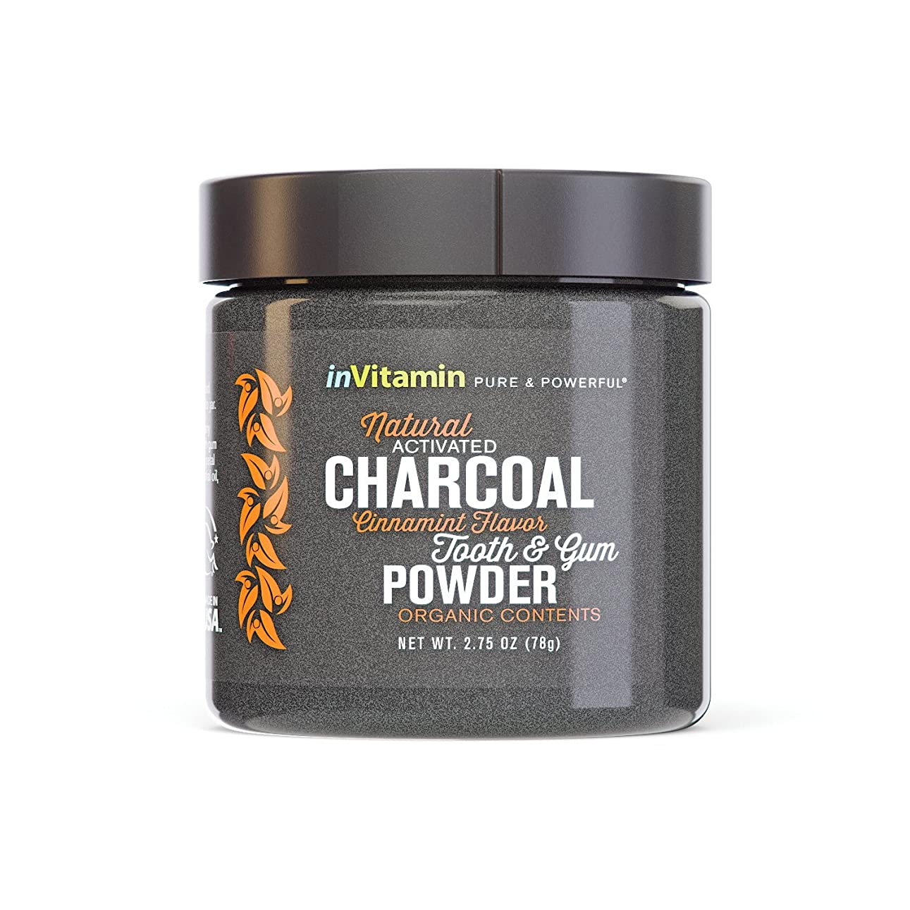 晩ごはんドック荒涼とした歯磨き粉 Natural Tooth & Gum Powder with Activated Charcoal (海外直送)