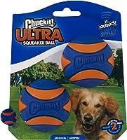 CHUCKIT Ultra Squeaker Chew Toy (2 Pack), Medium