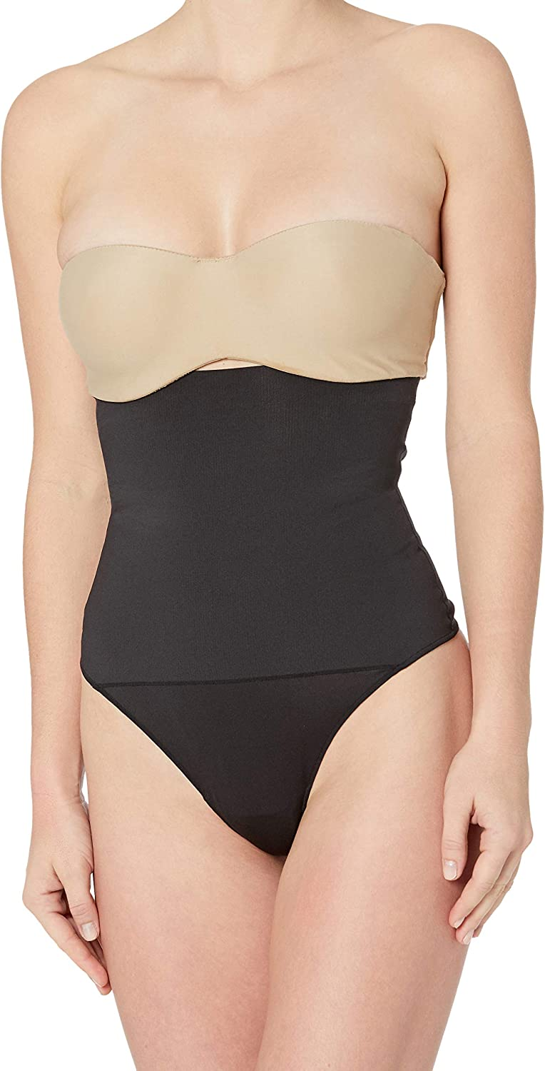 Maidenform Women's Shapewear Firm Control High Waist Thong Fajas with Cool Comfort DMS707