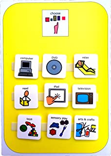 A4 Plastic Visual ASD Activity Choice Board (Picture Communication Symbols)