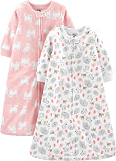 Baby Girls' Multi-Pack Cotton or Microfleece Sleepbags