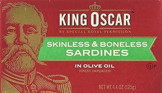 King Oscar Skinless & Boneless SARDINES in Olive Oil 4.4oz (9 Pack)