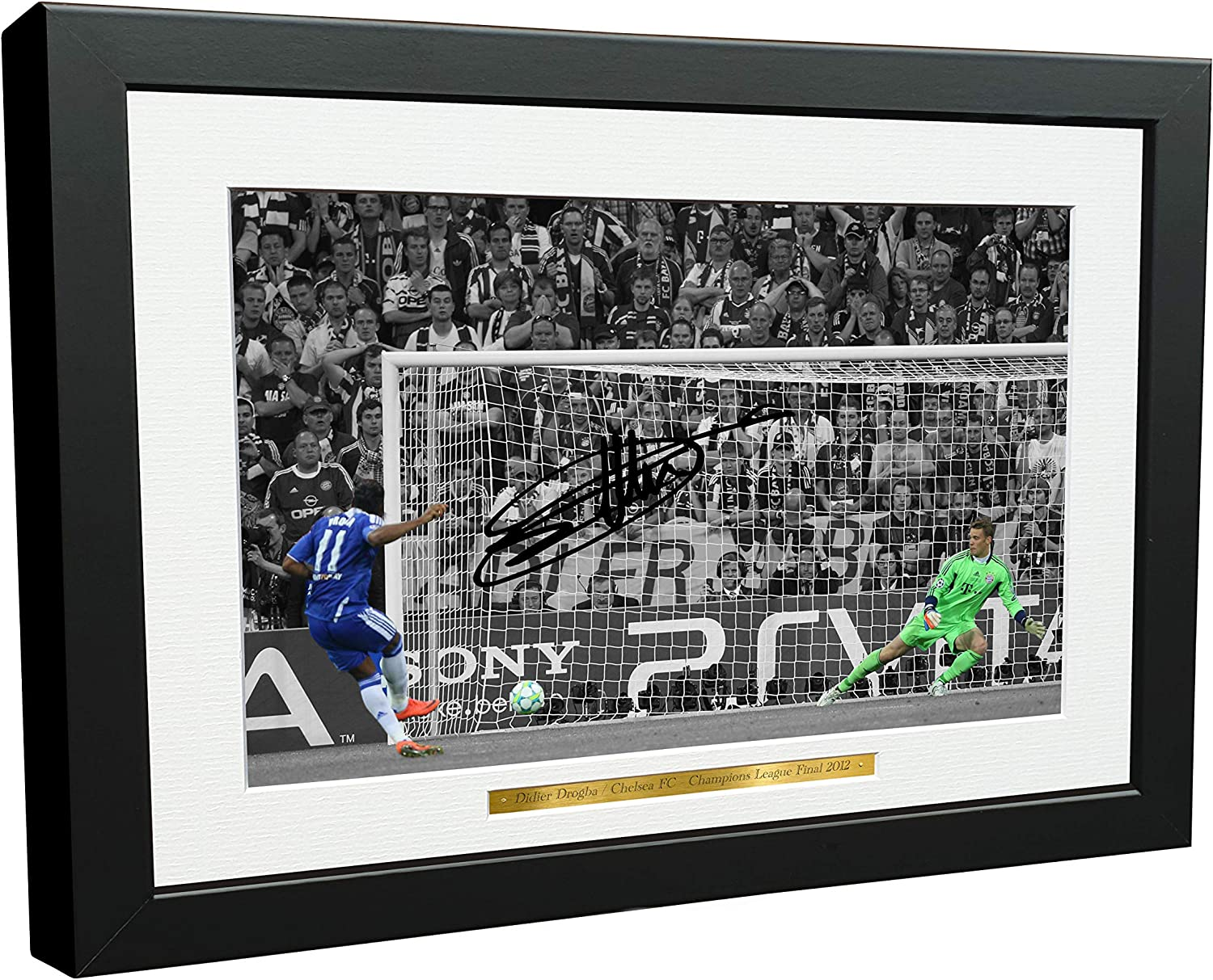Didier Drogba Discount mail order 12x8 A4 Miami Mall Chelsea FC 2012 A Champions League Winners