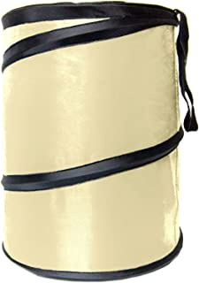 FH Group FH1121BEIGE Auto Car Trash Can Portable Collapsible Car Trash Can Waterproof Garbage Container Large, Beige Color