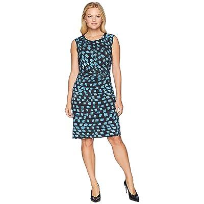 NIC+ZOE Petite Vivid Twist Dress (Seafoam) Women