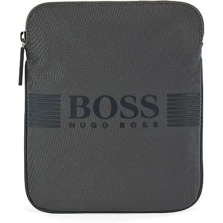 BOSS Herren Pixel S zip env Umhängetasche aus strukturiertem Nylon mit Logo-Print aus Silikon Größe