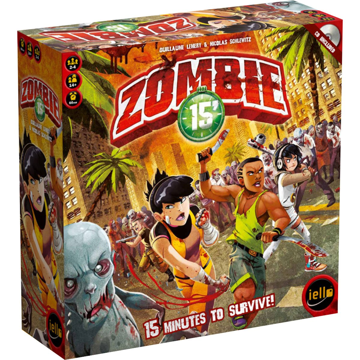 IELLO – 331591 – Juego de Tarjetas – Zombie 15 : Amazon.es: Juguetes y juegos