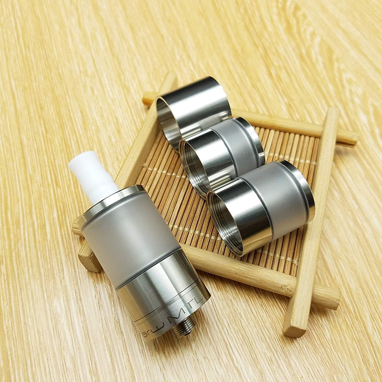 Dvarw II DIY Oil Storage nebulizer Dvarw V2 RTA MTL V2 22 mm with three tank kit (silver)