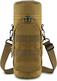 Gonex Tactical Molle Water Bottle Pouch H2O Hydration Carrier with Accessory Pouch
