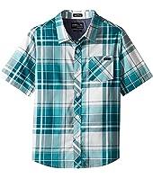 O'Neill Kids - O'Neill Plaid Short Sleeve Shirt (Toddler/Little Kids)