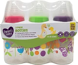 Parent's Choice BPA Free Bottles, 5 oz, 3 ct