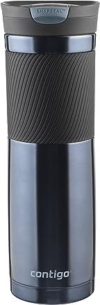 Contigo SnapSeal Byron Vaso de viaje de acero inoxidable aislado al vacío, 709 ml, Color Clima tormentoso