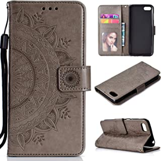 LODROC Lederen Portemonnee Case voor Huawei Y6p, [Kickstand Feature] PU Lederen Portemonnee Case Flip Folio Cover met [Car...