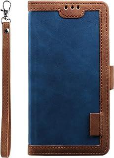 Miagon Retro plånboksfodral för Huawei P40 Lite, PU-läder folio flip plånboksstativ med kortspår magnetisk stängning mjuk ...