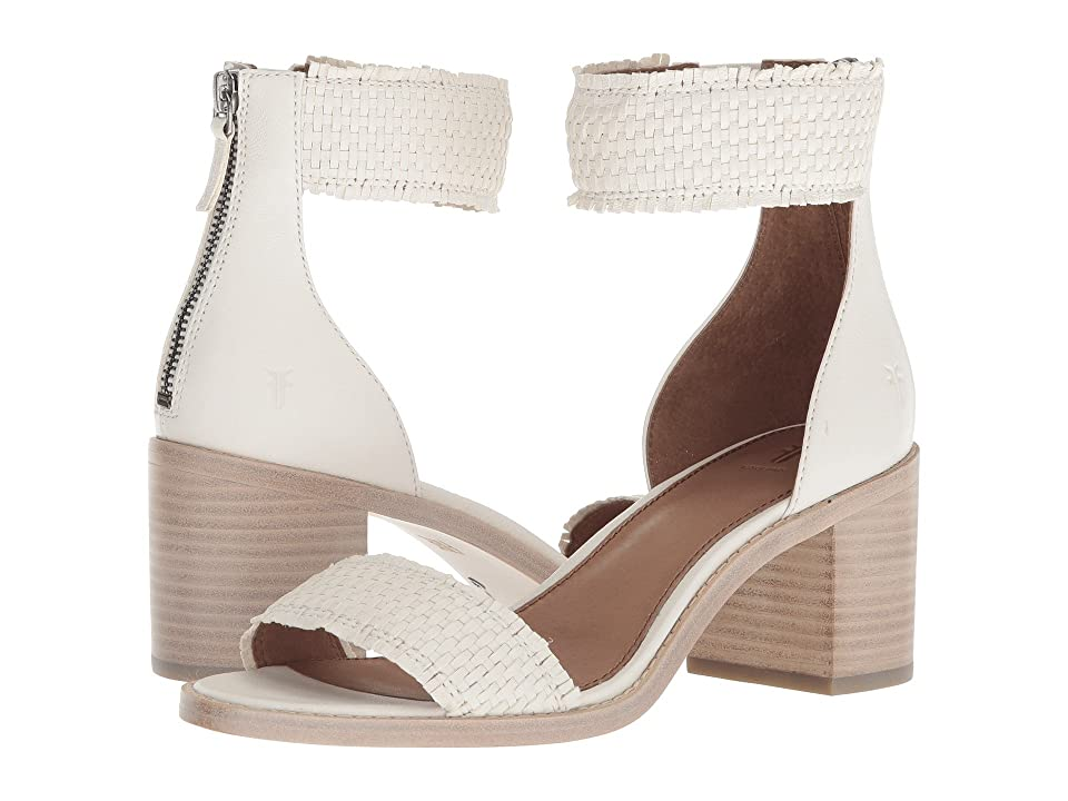 Frye Bianca Woven Back Zip (White) Women