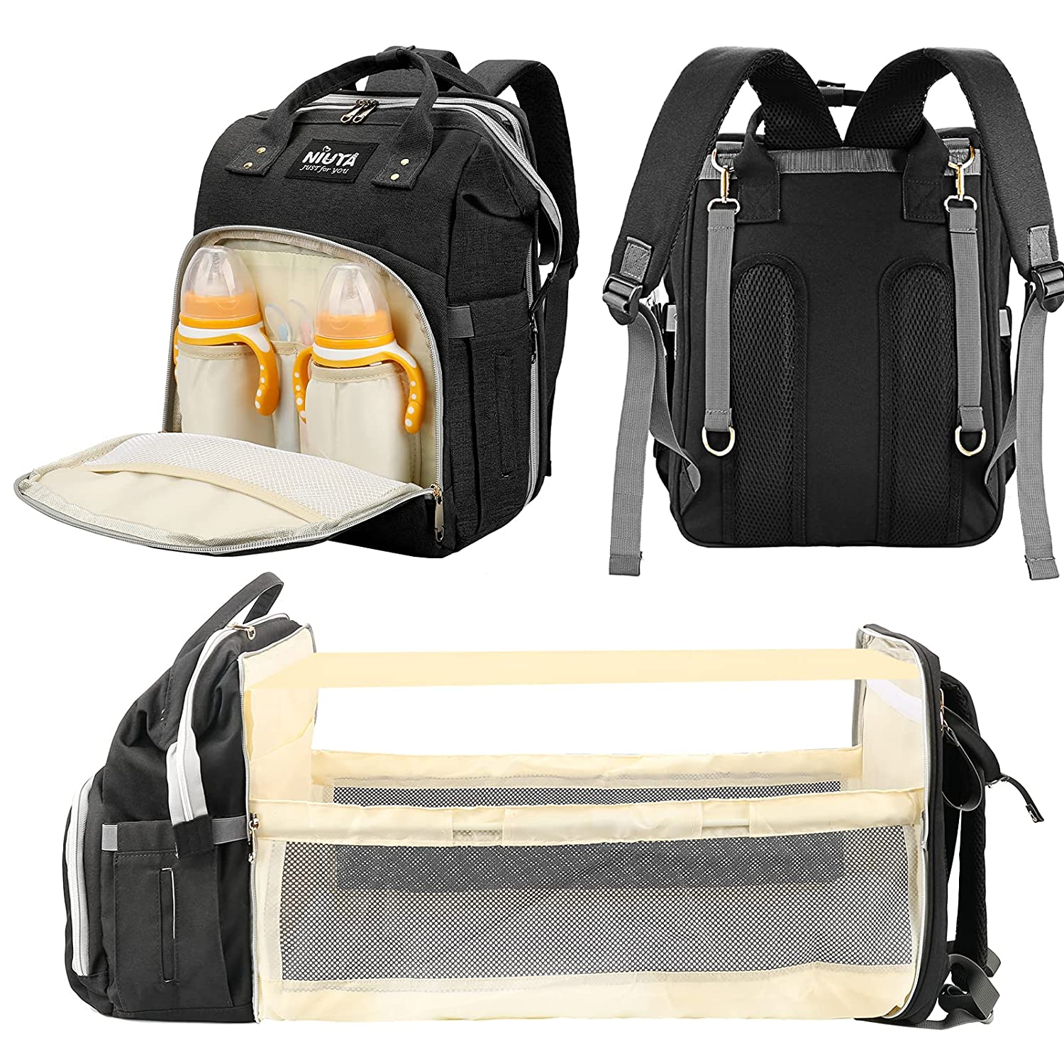 Baby Diaper Bag with Changing Station - Multi-Purpose mom and dad Bag for Traveling, Large Capacity Baby Diaper Backpack